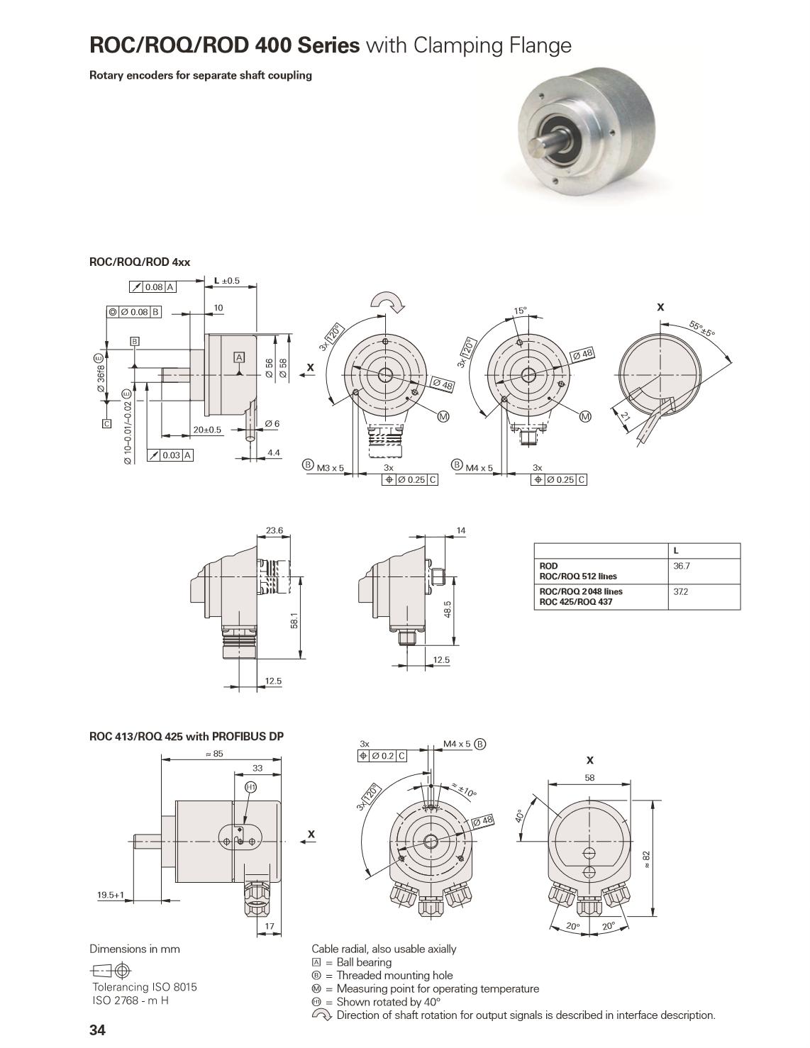 Heidenhain Encoder Rod 420 5000 27s12 03 Id Nr 376 840 C8
